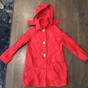 COACH Raincoat Jacket Vibrant Coral M